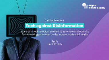 """Call for solutions """"Tech against desinformation"""""""