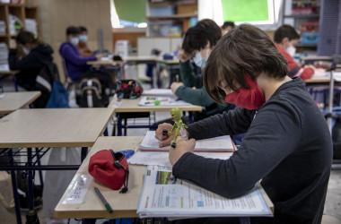 Pupils at a public school in Valencia. Mònica Torres